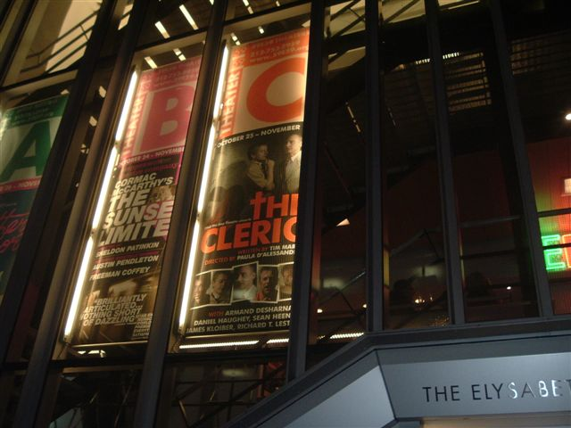 "Banner for ""The Cleric"", 59E59 Theaters"